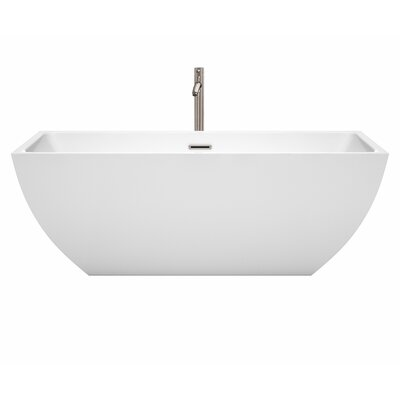 Rachel 67 x 29.5 Freestanding Soaking Bathtub