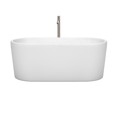 Ursula 59 x 27.5 Freestanding Soaking Bathtub