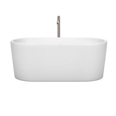 Ursula 59 x 27.5 Freestanding Soaking Bathtub