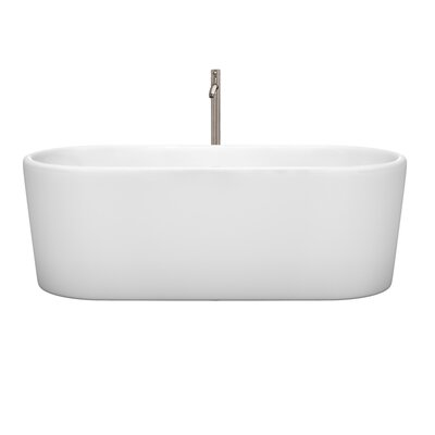 Ursula 67 x 27.5 Freestanding Soaking Bathtub