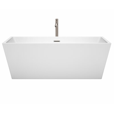 Sara 67 x 31.5 Freestanding Soaking Bathtub