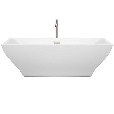 Maryam 70.8 x 31.3 Freestanding Soaking Bathtub