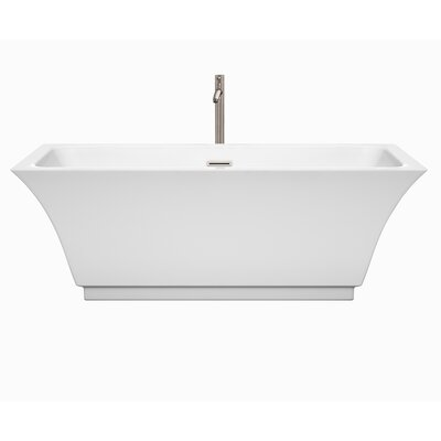 Galina 67 x 31.3 Freestanding Soaking Bathtub