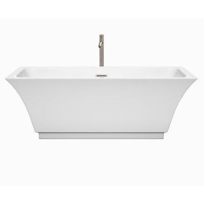 Galina 67 x 31.3 Freestanding Soaking Bathtub