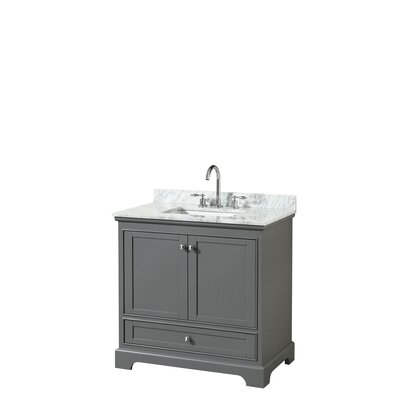 Deborah 36 Single Bathroom Vanity Set Base Finish: Dark Gray