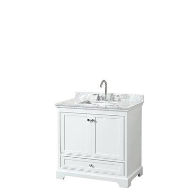 Deborah 36 Single Bathroom Vanity Set Base Finish: White