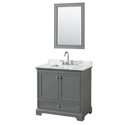 Deborah 36 Single Bathroom Vanity Set with Mirror Base Finish: Dark Gray