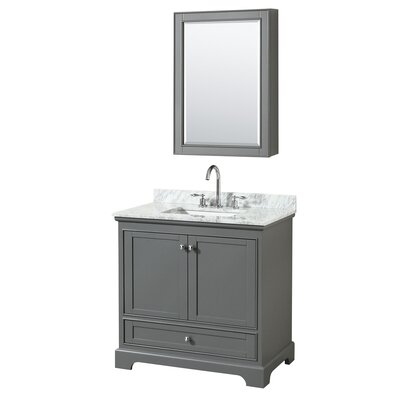 Deborah 36 Single Bathroom Vanity Set with Medicine Cabinet Base Finish: Dark Gray