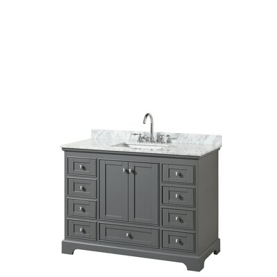 Deborah 48 Single Bathroom Vanity Set Base Finish: Dark Gray