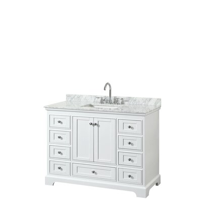 Deborah 48 Single Bathroom Vanity Set Base Finish: White