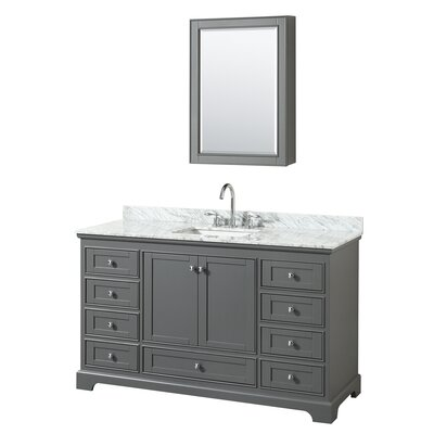 Deborah 60 Single Bathroom Vanity Set with Medicine Cabinet Base Finish: Dark Gray