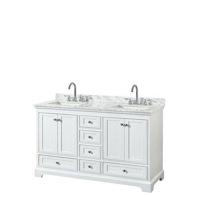 Deborah 60 Double Bathroom Vanity Set Base Finish: White