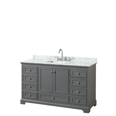 Deborah 60 Single Bathroom Vanity Set Base Finish: Dark Gray