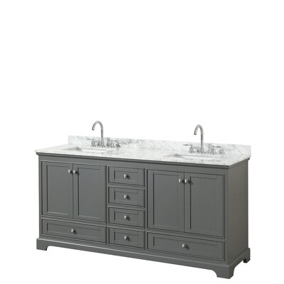 Deborah 72 Double Bathroom Vanity Set Base Finish: Dark Gray