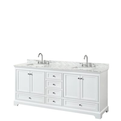 Deborah 80 Double Bathroom Vanity Set Base Finish: White
