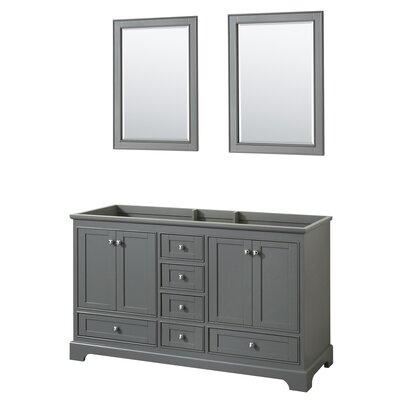 Deborah 59.25 Double Bathroom Vanity Base Base Finish: Dark Gray