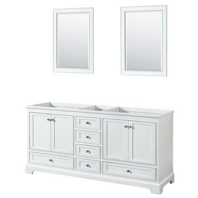 Deborah 71 Double Bathroom Vanity Base Base Finish: White