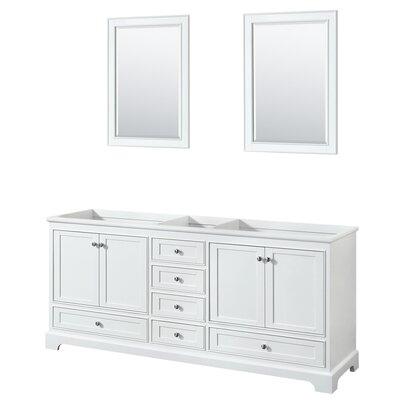 Deborah 79 Double Bathroom Vanity Base Base Finish: White