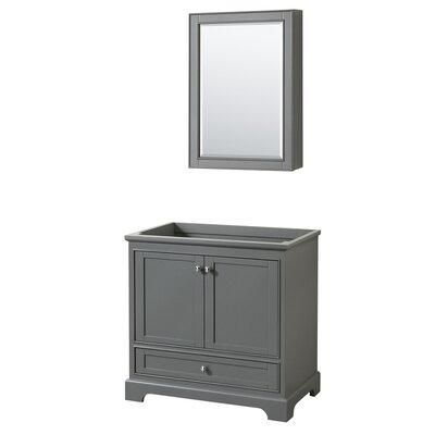 Deborah 35.25 Single Bathroom Vanity Base Base Finish: Dark Gray