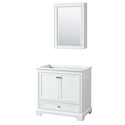 Deborah 35.25 Single Bathroom Vanity Base Base Finish: White
