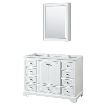 Deborah 47.25 Single Bathroom Vanity Base Base Finish: White
