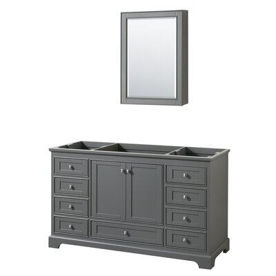 Deborah 59.25 Single Bathroom Vanity Base Base Finish: Dark Gray