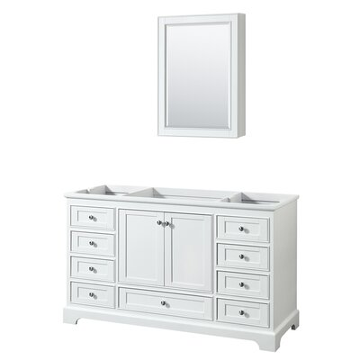 Deborah 59.25 Single Bathroom Vanity Base Base Finish: White