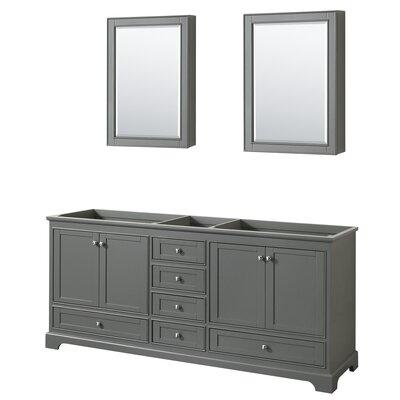 Deborah 79 Double Bathroom Vanity Base Base Finish: Dark Gray