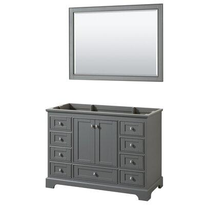 Deborah 47.25 Single Bathroom Vanity Base Base Finish: Dark Gray