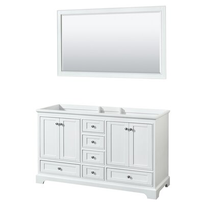 Deborah 59.25  Double Bathroom Vanity Base Base Finish: White