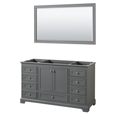 Deborah 59.25 Single Bathroom Vanity Base Base Finish: Dark Gray