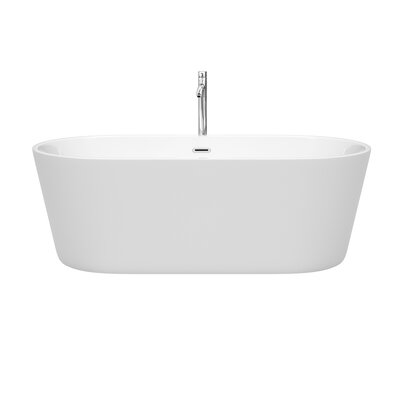 Carissa 67 x 32 Freestanding Soaking Bathtub Color: Chrome