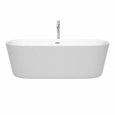Carissa 71 x 32 Freestanding Soaking Bathtub Color: Chrome