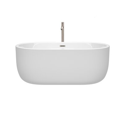 Juliette 60 x 31.25 Freestanding Soaking Bathtub Color: Brushed Nickel