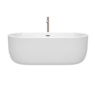 Juliette 67 x 31.5 Freestanding Soaking Bathtub Color: Brushed Nickel