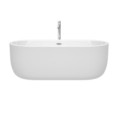 Juliette 67 x 31.5 Freestanding Soaking Bathtub Color: Chrome