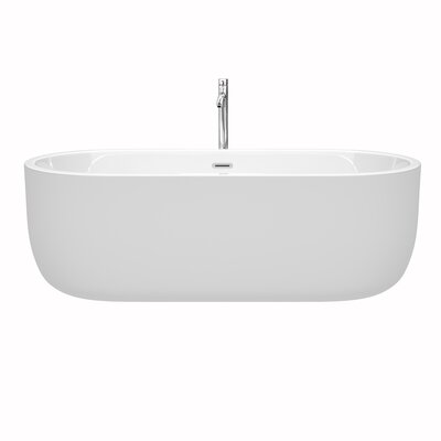 Juliette 71 x 31.5 Freestanding Soaking Bathtub Color: Chrome