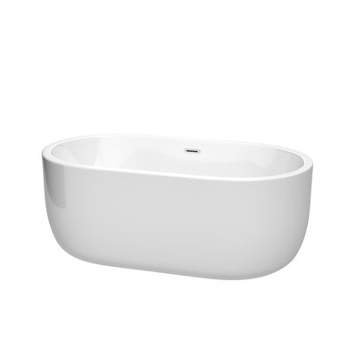 Juliette 60 x 31.25 Freestanding Soaking Bathtub Color: Chrome