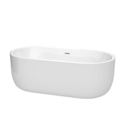 Juliette 67 x 31.5 Freestanding Soaking Bathtub Color: Chrome