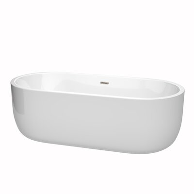 Juliette 71 x 31.5 Freestanding Soaking Bathtub Color: Brushed Nickel