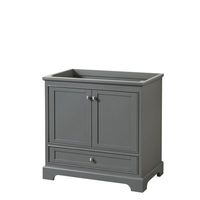 Deborah 35.25 Single Bathroom Vanity Base Base Finish: Dark Gray