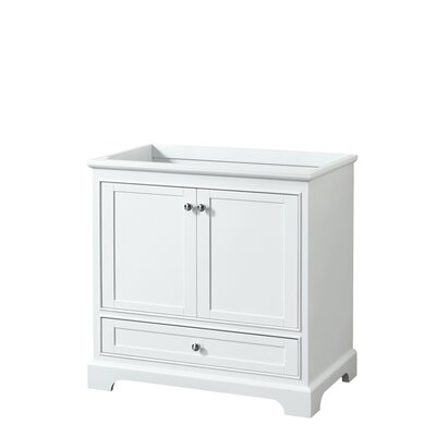 Deborah 35.25 Single Bathroom Vanity Base Base Finish: White