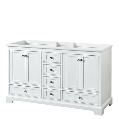 Deborah 59.25 Double Bathroom Vanity Base Base Finish: White