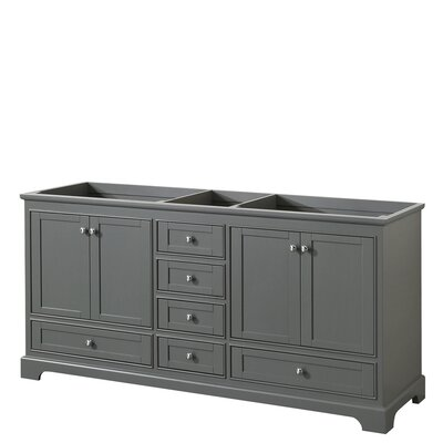Deborah 71 Double Bathroom Vanity Base Base Finish: Dark Gray