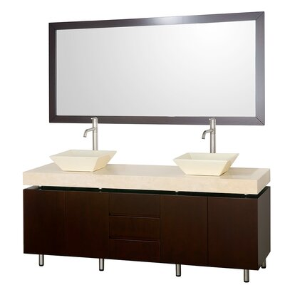 Malibu 72 Double Bathroom Vanity Set with Mirror