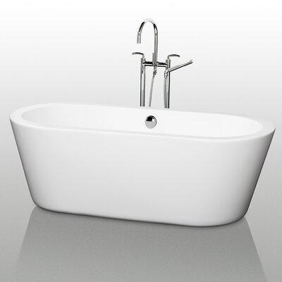 Mermaid 71 x 34 Freestanding Soaking Bathtub