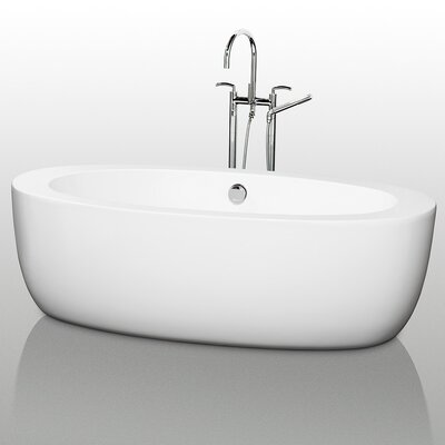 Uva Center Drain 69 x 33 Soaking Bathtub