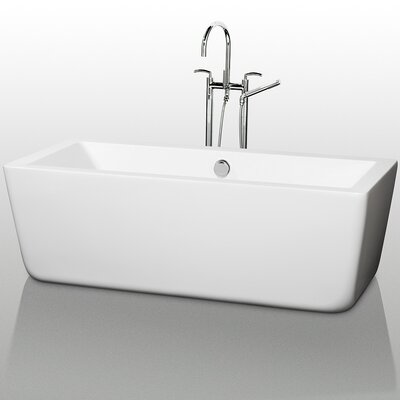 Laura 66.5 x 29.38 Soaking Bathtub