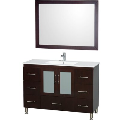 Katy 48 Single Bathroom Vanity Set with Mirror
