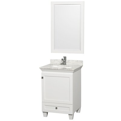 Acclaim 24 Single Bathroom Vanity Set Top Finish: White Carrera Marble